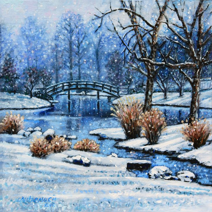 Japanese Winter - Paintings by John Lautermilch