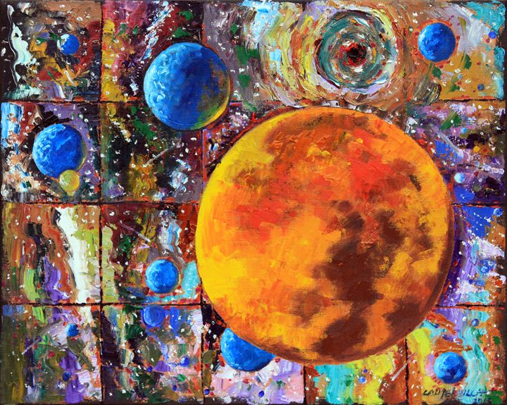 Many Blue Planets - Paintings by John Lautermilch