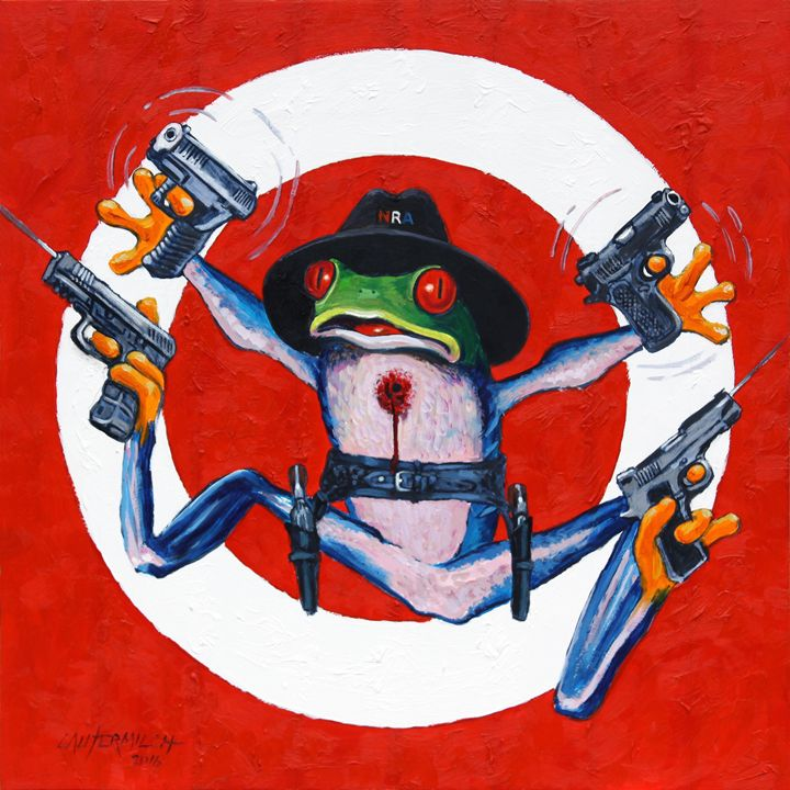 I Don't Need NO Stinking Gun Control - Paintings by John Lautermilch