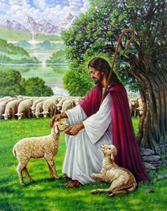 Jesus The Sheperd - Paintings by John Lautermilch