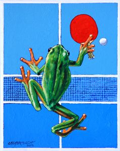The Forehand Smash - Paintings by John Lautermilch