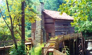 Old Watermill Near Stone Mountain - Paintings by John Lautermilch