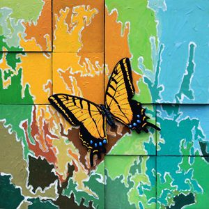 Butterfly #2 - Paintings by John Lautermilch
