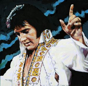Elvis - How Great Thou Art - detail - Paintings by John Lautermilch