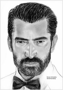 Kenan Imirzalolu pencil drawing
