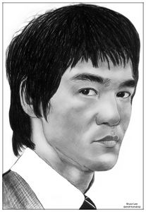 Bruce Lee pencil drawing