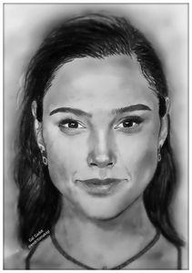 Gal Gadot pencil drawing