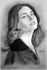 Lana Del Rey pencil drawing