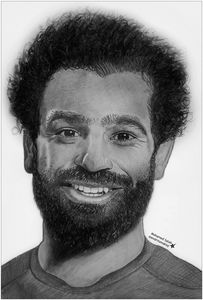 Mohamed Salah pencil drawing