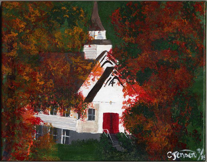A church in the wild woods. - Artbycindyj
