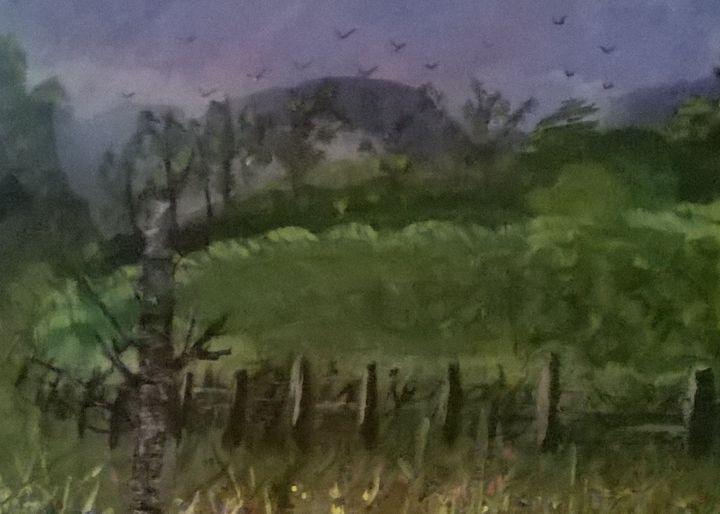 Acrylic of An English Countryside. - Artbycindyj