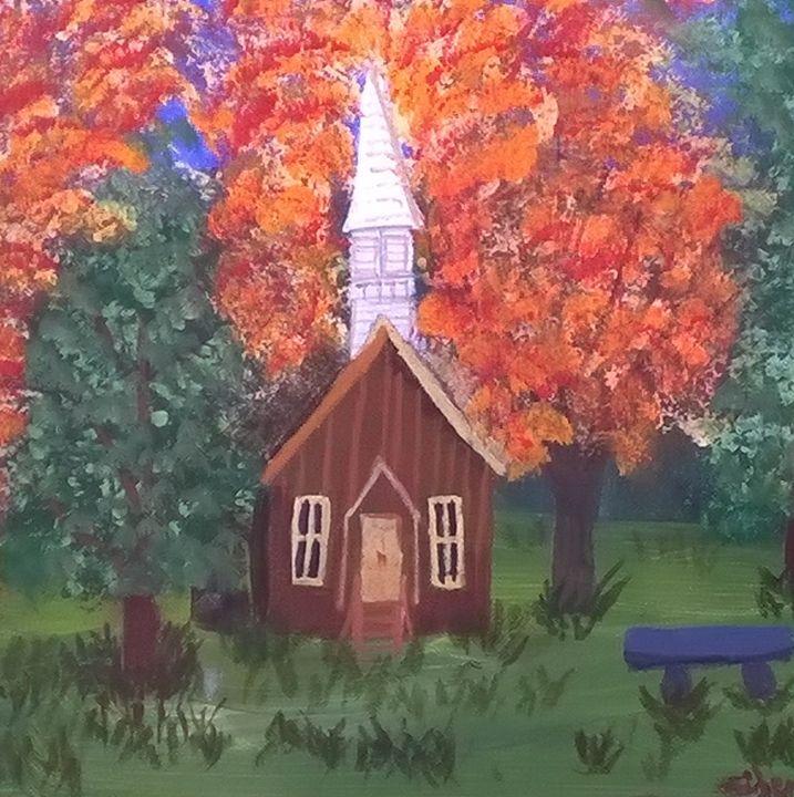 Country church in the Dakotas - Artbycindyj