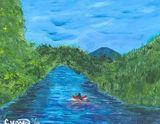 impressionistic acrylic painting