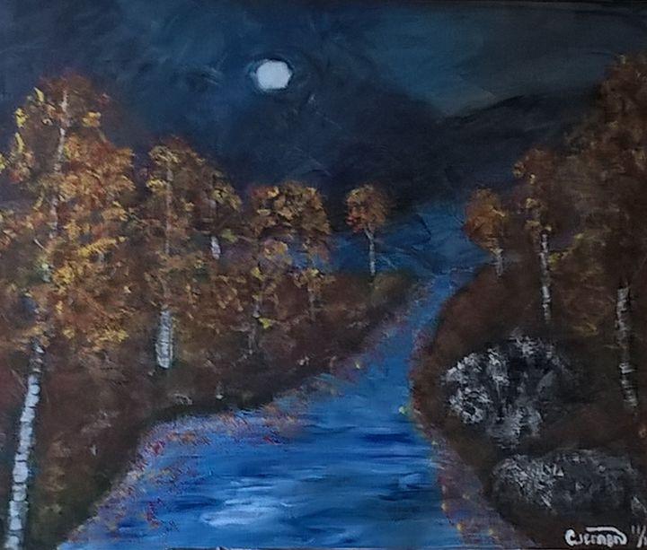 A harvest moon - Artbycindyj