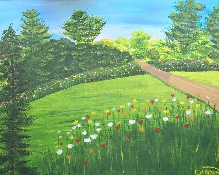 A spring garden - Artbycindyj