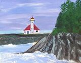 Acrylic painting of Cape Arago