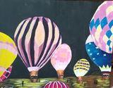 Original painting of hot air balloon