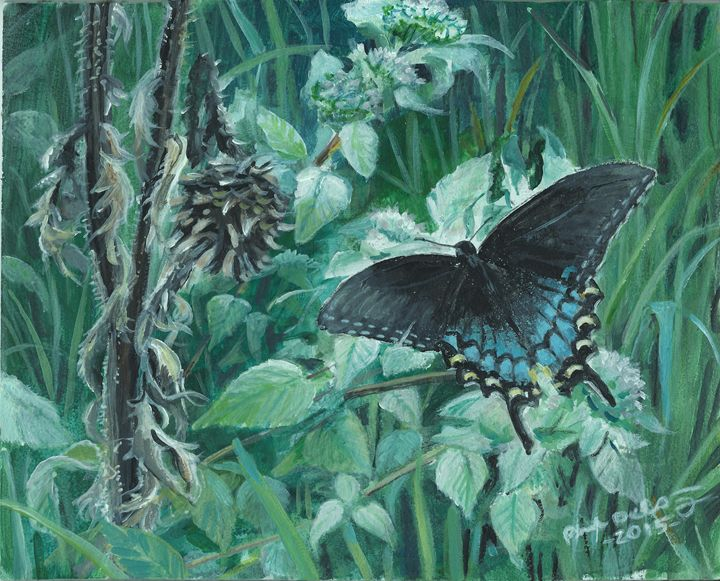 Eastern Tiger Swallowtail/Mtn. Mint - Delestrezart
