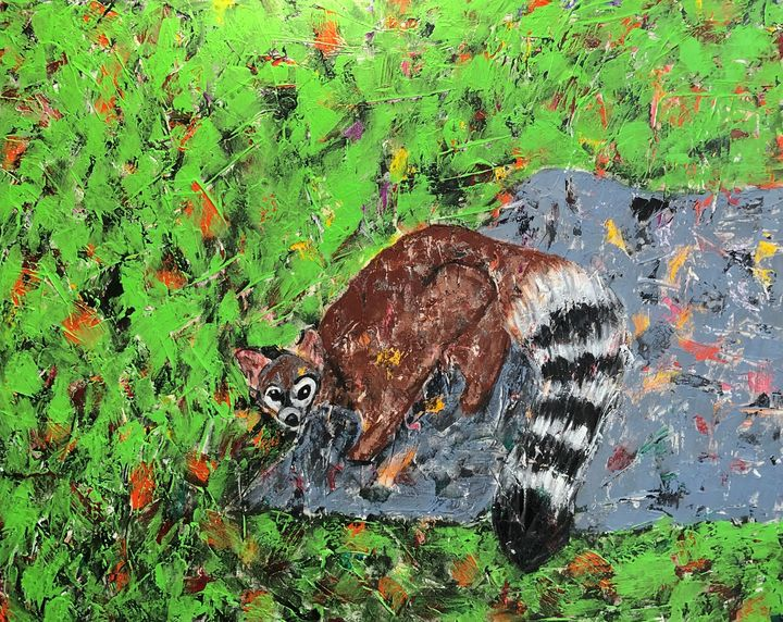 Ringtail Cat-AZ Natives series - GrannyCAbstracts