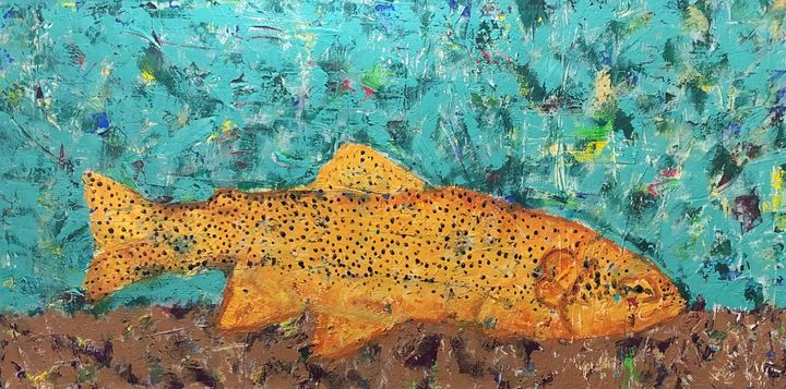 Apache Trout-Az Natives series - GrannyCAbstracts