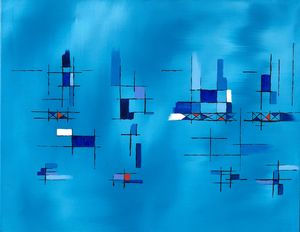 Suspended Balance in Blue