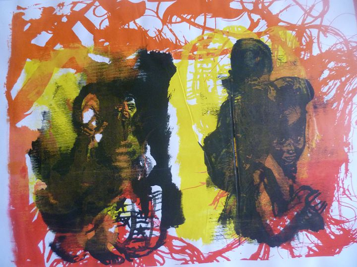Message in Yellow and Red - Advanced Diploma Printmaking