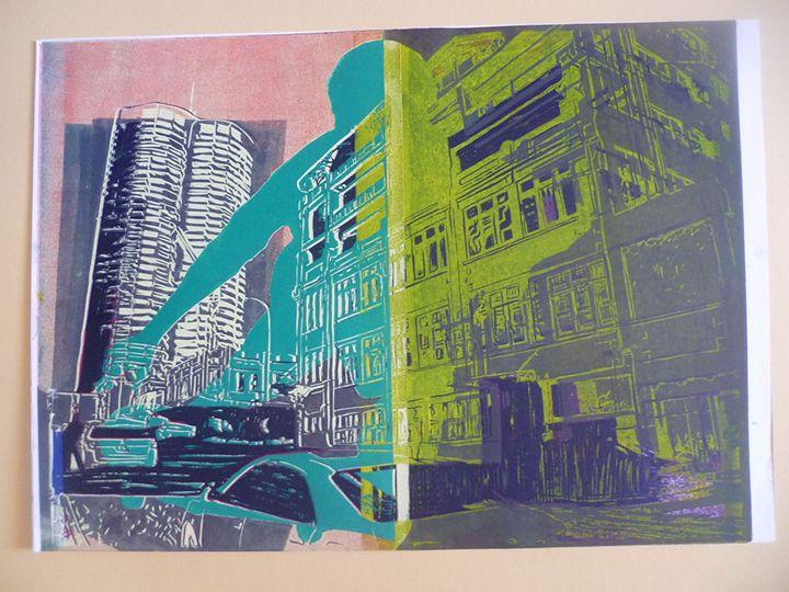 Skate City Theme 1 - Advanced Diploma Printmaking