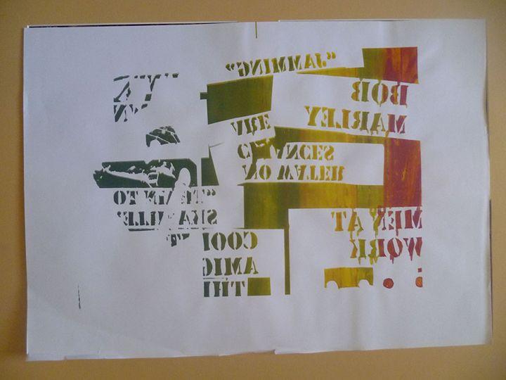 Reggae percussion theme - Advanced Diploma Printmaking
