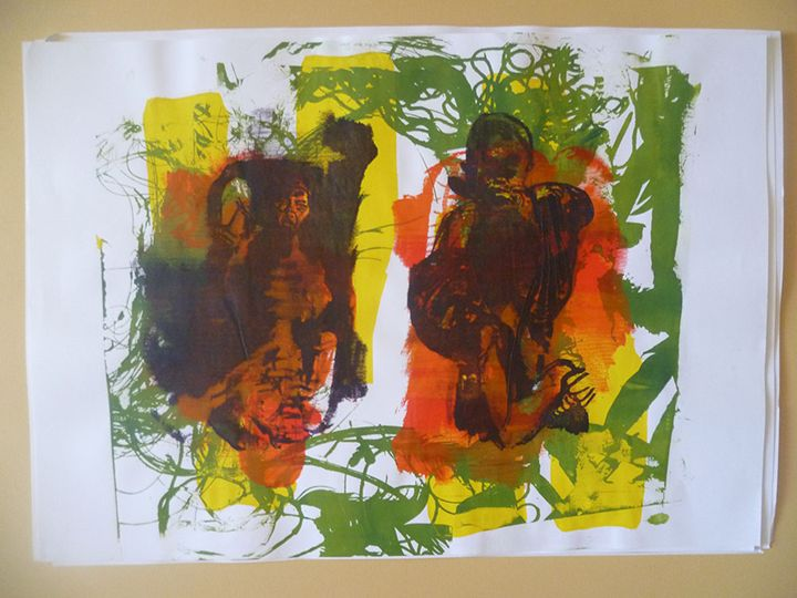 Message in Green - Advanced Diploma Printmaking