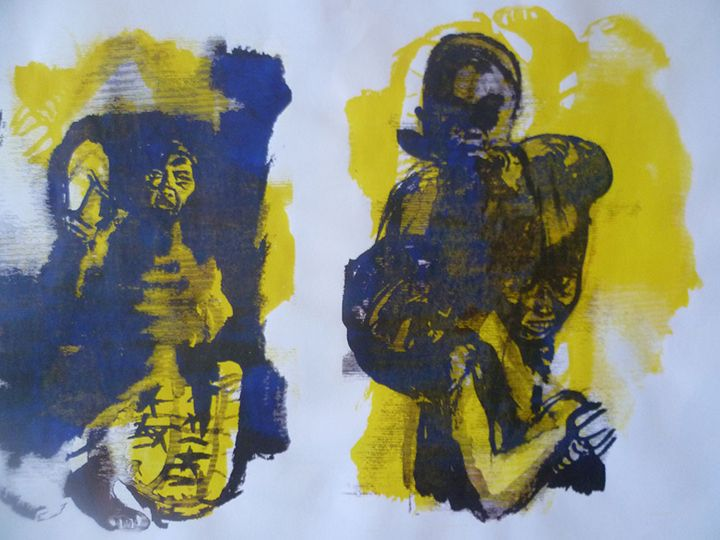 Message in Yellow - Advanced Diploma Printmaking