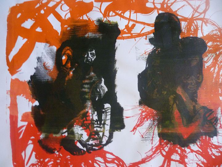 Message in Red - Advanced Diploma Printmaking