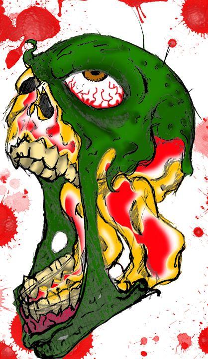 Zombie Skull - Crowjan Designs
