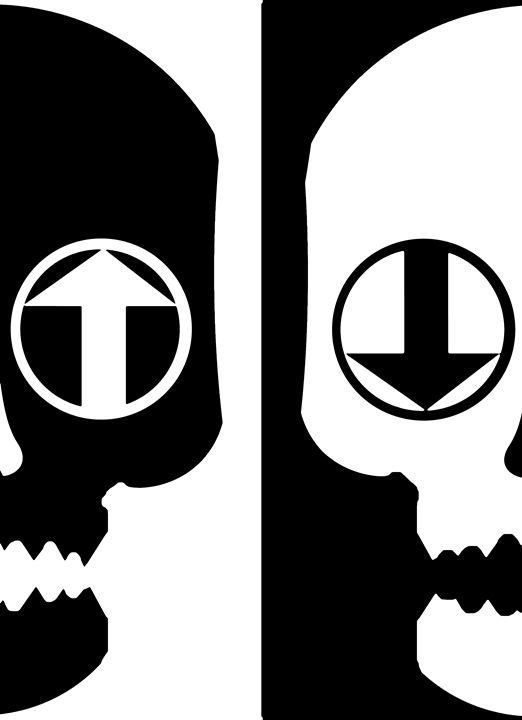 Yin Yang Skull - Crowjan Designs