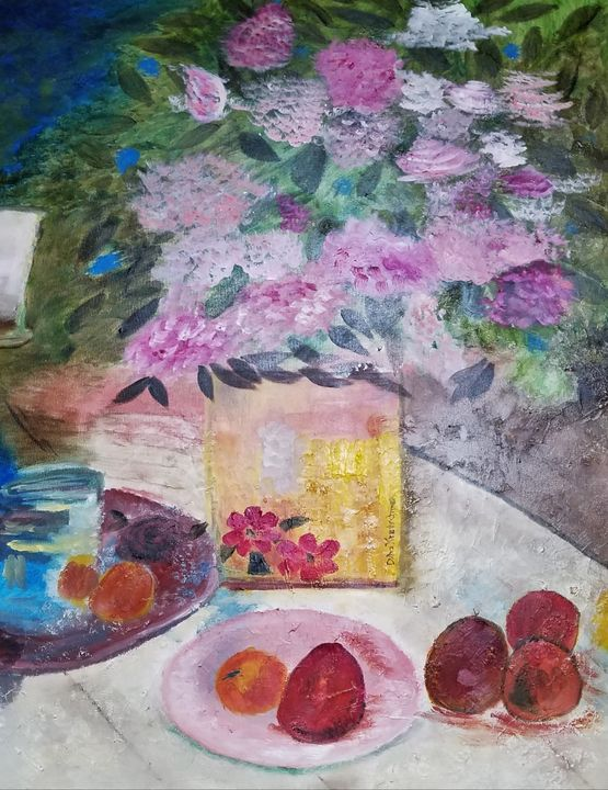 Come to the table - Oil Paintings by Debra-ann
