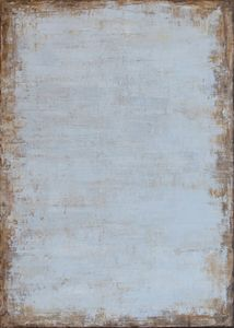 Brown with tender powder blue inside - Minkina