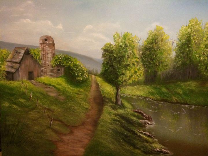 The Old Barn By The Pond - Ellen Ogden