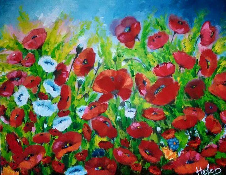 Field of poppies - Helen Bellart