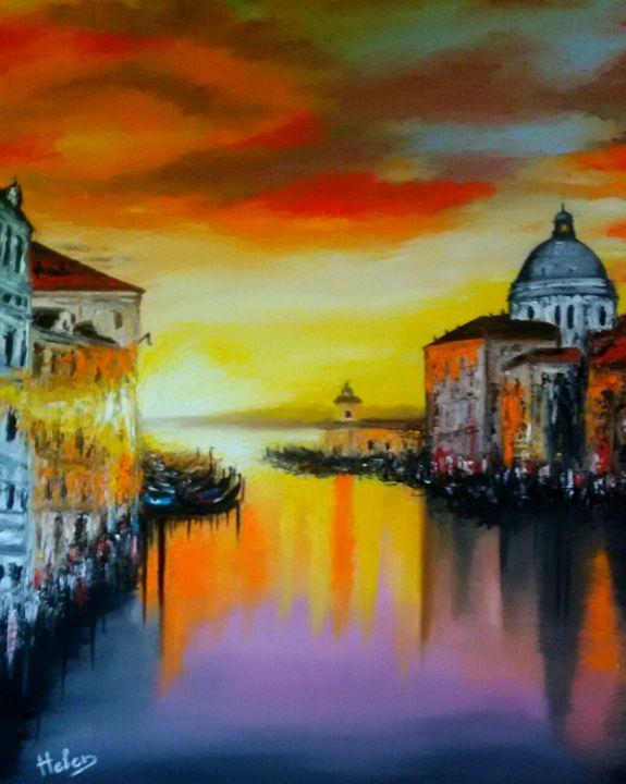 Sunrise in Venice - Helen Bellart