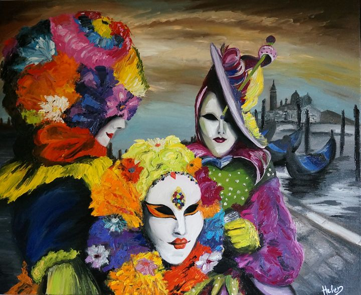 Carnival in Venice - Helen Bellart