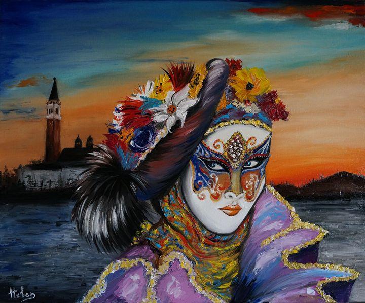 Venetian mask - Helen Bellart