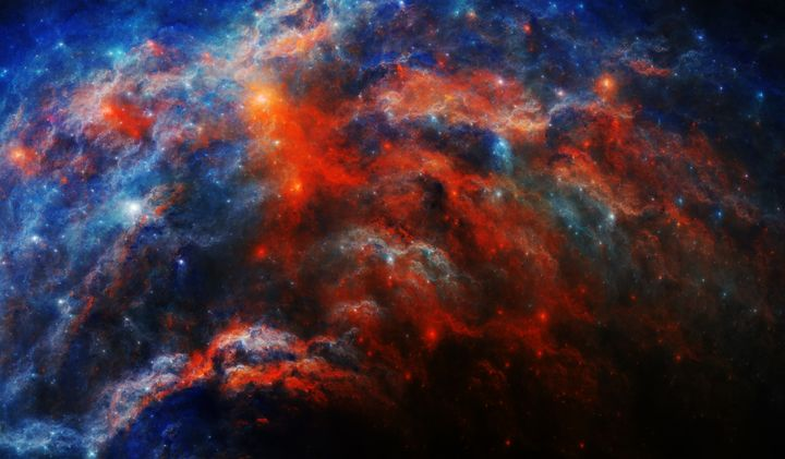 Emission Falls Nebula - Fractions of Space