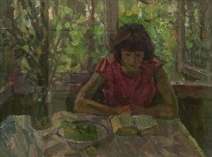 Alekseij Lazykin - Girl Reading
