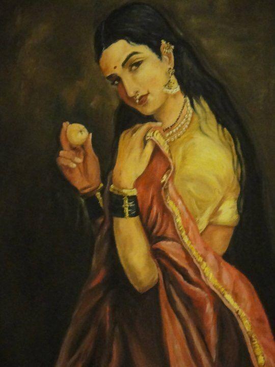 Raja Ravi Varma lady with lemon - Renu