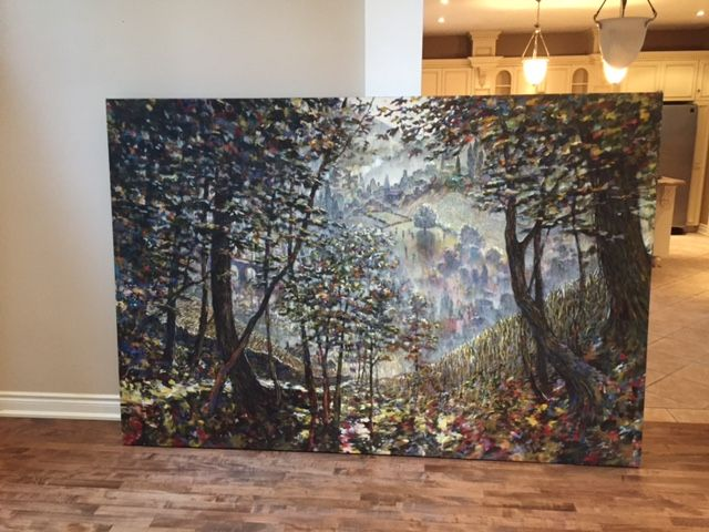 FOREST SCENE WITH PATH - TIM MURTON - Rau Gallery