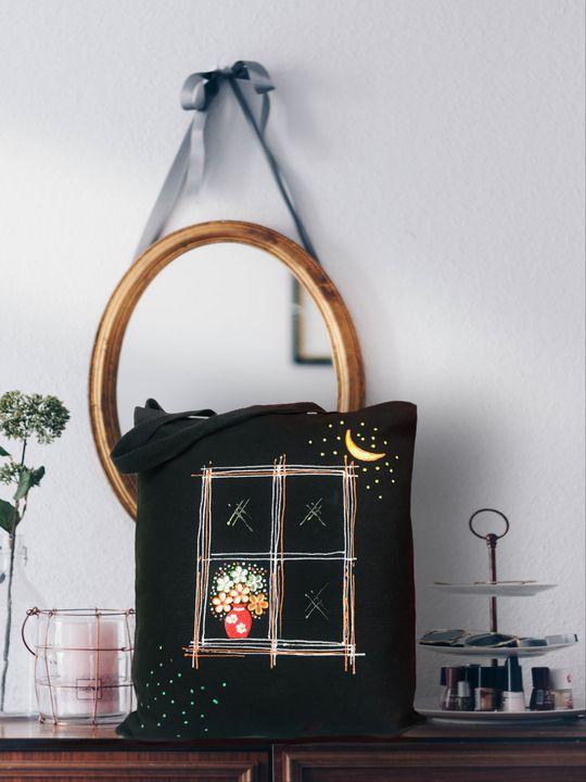 Hand painted canvas bag - MakBags