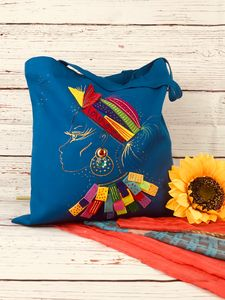 Hand painted canvas bags