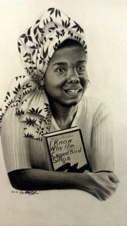 Maya Angelou, Haydays - chuckey's art and soul