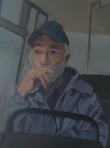 Reflection on a bus