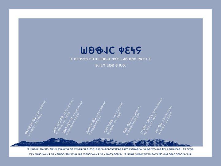 Summits of the Wasatch Range-Deseret - Deseret Alphabet