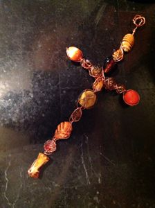 One of a Kind Bead & Wire Cross